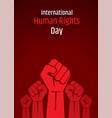 international human rights day vector image vector image