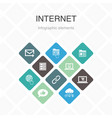 internet infographic 10 option color design vector image vector image