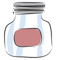 jar hand drawn design on white background vector image vector image