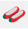 korean shoes isometric icon vector image vector image