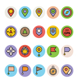 Map and Navigation Icons 1 vector image vector image