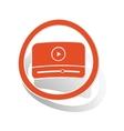 Mediaplayer sign sticker orange vector image vector image