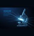 microscope abstract 3d professional school vector image