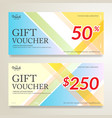 modern gift card or gift voucher certificate on vector image vector image