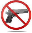 No guns sign vector image