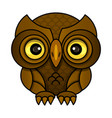 owl or owl bird sketch isolated icon vector image vector image
