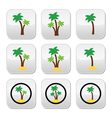 Palm trees exotic holidays on beach colorf vector image vector image