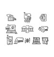 payment methods thin line icons pay online vector image