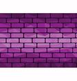 Polygon brick purple vector image vector image
