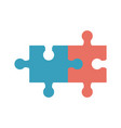 puzzle pieces icon image vector image
