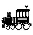 railroad icon simple style vector image vector image