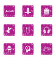replacement of person icons set grunge style vector image
