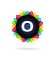 Retro bright colors Logotype Letter O vector image vector image