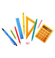 school or office stationery for work and study vector image