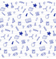 school supplies icons seamless pattern vector image vector image