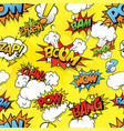 seamless comix background vector image vector image