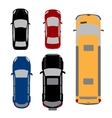 Set of five cars Coupe sedan wagon SUV vector image