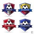 set soccer football badge vector image vector image
