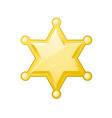 sheriff star isolated on white background vector image vector image