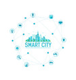 smart city infographics modern city in circle vector image