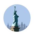statue liberty icon american sign vector image