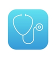 Stethoscope line icon vector image vector image
