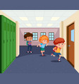 students going to classroom vector image vector image