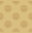 sun and moon modern boho concept harmony and zen vector image vector image