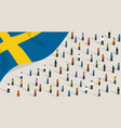 swedish independence anniversary celebration and vector image vector image