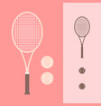 tennis and racket icon vector image