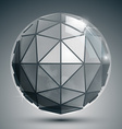 Textured plastic spherical object with flashes vector image vector image