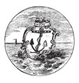 the official seal of the us state of rhode island vector image vector image