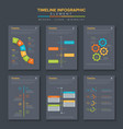 timeline infographic set template simple flat vector image vector image