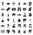 travel icons set simple style vector image vector image