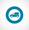 truck icon bold blue circle border vector image vector image