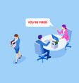 unemployment loss job crisis jobless and vector image vector image