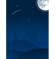 vector night landscape with moon vector image