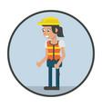 woman worker cartoon vector image