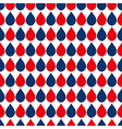 Navy Blue Red White Water Drops Background vector image