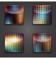 4 shiny icons vector image vector image