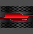 abstract red glossy banner dark gray metal circle vector image vector image