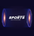 abstract sport background with sporlight effect vector image