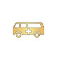 Ambulance computer symbol vector image vector image