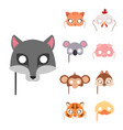 animals carnival mask festival decoration vector image