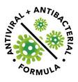 antiviral and antibacterial formula icon vector image