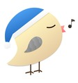 birdy Blue hat vector image vector image