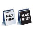 black friday calendar realistic 3d vector image