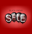 black friday sale concept with air balloons vector image vector image