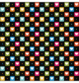 black pattern with color hearts vector image