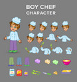 boy chef character vector image